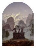 Goethe Monument Premium Giclee Print by Karl Gustav Carus