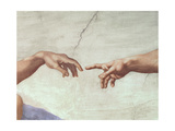 The Creation of Adam, c.1510 (detail) Premium Giclee Print by  Michelangelo Buonarroti