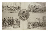 "Illustrations of Attacks on Queen Victoria, from ""The Illustrated London News,"" 11th March 1882 Giclee Print"