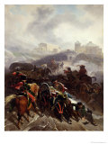 The French Army Crossing the Sierra De Guadarrama, Spain, December 1808, 1812 Giclee Print by Nicolas Antoine Taunay