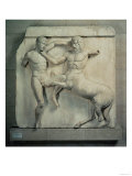 The Battle of Lapiths and Centaurs, Metope XXXI from the South Side of the Parthenon, 447-432 BC Giclee Print