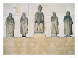 Statue of Henry VII (1274/5-1313), Holy Roman Emperor, with His Counsellors 1315 Giclee Print by Tino da Camaino