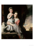 Georgiana, Countess Spencer with Lady Georgiana Spencer, 1759-61 Giclee Print by Joshua Reynolds