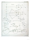"Plate XX from Volume I of ""The Mathematical Principles of Natural Philosophy"" by Sir Isaac Newton Premium Giclee Print"