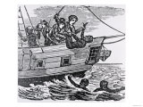 "Sailors Throwing Slaves Overboard, from Torrey's ""American Slave Trade,"" 1822 Giclee Print"