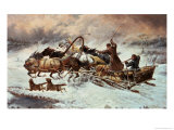 Russian Snow Scene Giclee Print by Constantine Stoiloff