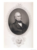 "John Quincy Adams (1767-1848) from ""The History of the United States,"" Vol. II, by Charles Mackay Giclee Print by Savinien Edme Dubourjal"