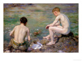 Three Companions Giclee Print by Henry Scott Tuke