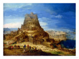 The Building of the Tower of Babel Giclee Print by Hendrick Van Cleve