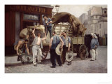 Delivering Flour, 1885 Giclee Print by Louis Robert Carrier-Belleuse