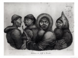 "Inhabitants of the Gulf of Kotzebue, from ""Voyage Pittoresque Autour Du Monde,"" by Langlume Giclee Print by Ludwig Choris"