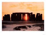 Stonehenge, Winter Solstice Giclee Print