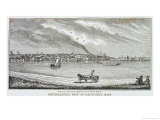 South-Eastern View of Nantucket, from Historical Collections of Massachusetts Giclee Print by John Warner Barber