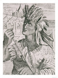 "The Last Inca Chief, Atahualpa, from ""The Narrative and Critical History of America"" Lámina giclée"