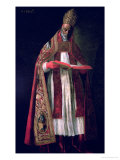 St. Gregory the Great (circa 540-604) Giclee Print by Francisco de Zurbarán