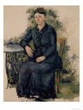 Madame Cezanne in the Garden, 1880-82 Giclee Print by Paul C&#233;zanne