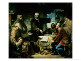 Christopher Columbus (1451-1506) in the Monastery of La Rabida, 1856 Giclee Print by Eduardo Cano de la Peña