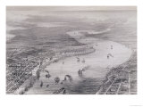 "Bird's-Eye View of New Orleans, from ""The History of the United States,"" Vol. II, by Charles Mackay Reproduction procédé giclée par John Wells"