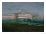 Ploughed Field, circa 1830 Giclee Print by Caspar David Friedrich