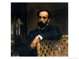 Portrait of the Artist Isaak Ilyich Levitan (1860-1900), 1893 Giclee Print by Valentin Aleksandrovich Serov