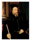 Portrait of William Cecil, 1st Baron Burghley (1520-98) Lord High Treasurer Giclee Print by Arnold von Bronckhorst
