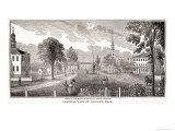 "Central Part of Concord, from ""Historical Collections of Massachusetts"" Giclee Print by John Warner Barber"
