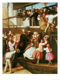 Embarkation Scene Reproduction procédé giclée par George Tuson
