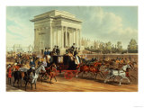 Hyde Park Corner, after James Pollard, Published by Ackermann, 1836 Premium Giclee Print