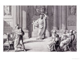Cicero Denouncing Catiline, Engraved by B. Barloccini, 1849 Giclee Print by C. C Perkins