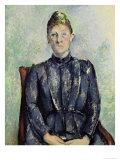 Madame Cezanne, circa 1885-90 Giclee Print by Paul Cézanne