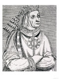 "The Last Inca Chief, Atahualpa, from ""The Narrative and Critical History of America"" Giclee Print"