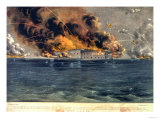 Bombardment of Fort Sumter, Charleston Harbour, 12th & 13th April 1861, Pub. by Currier & Ives Giclee Print