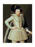 James I, Half-Length Portrait Giclee Print by John Decritz the Elder