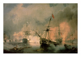 The Battle of Navarino, 20th October 1827, 1846 (Oil on Canvas) Giclee Print by Ivan Konstantinovich Aivazovsky