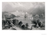 "A View of Baltimore, from ""The History of the United States,"" Vol. II, by Charles Mackay Giclee Print by William Henry Bartlett"