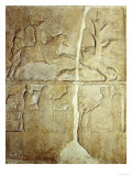 Stela Relief Depicting a Wild Boar Hunt Giclee Print