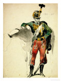 A Hussar of the 9th Regiment, Light Cavalry Dress, 1835-48 Premium Giclee Print by Johan Baptiste Heinefetter