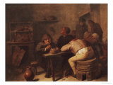 Interior with Smokers Giclee Print by Adriaen Brouwer