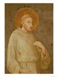 St. Francis Giclée-tryk af Simone Martini