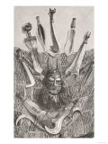 Knives, Mask and Mat from Upper Congo, from the History of Mankind, Vol.III Giclee Print