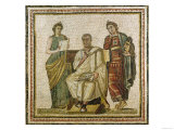 Virgil (70-19 BC) and the Muses, from Sousse (Hadrumetum) Giclee Print