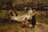 The Apple Gatherers, 1880 Giclee-trykk av Frederick Morgan