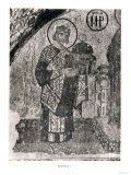 Emperor Justinian I (483-565) dedicating St Sophia to the Virgin and child Lmina gicle