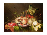 Still Life of Fruit Premium Giclee Print by Jan Davidsz. de Heem