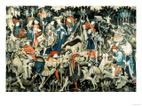 The Devonshire Hunting Tapestries, Boar and Bear Hunt, Probably Arras, 1425-50 Giclee Print