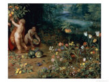 Allegory of Abundance, Detail Giclee Print by Jan Brueghel the Younger