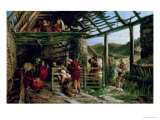 The Nativity Premium Giclee Print by William Bell Scott