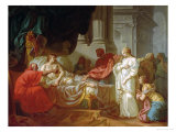 Antiochus and Stratonice, 1774 Premium Giclee Print by Jacques-Louis David