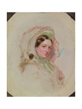 Lady with a Parasol (Study for Derby Day) Giclee Print by William Powell Frith