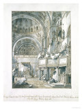 The Choir Singing in St. Mark's Basilica, Venice, 1766 Giclee Print by  Canaletto